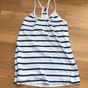 H&M blue and white striped shirt